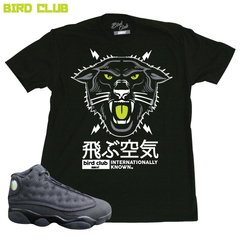 BLACK CAT/ PANTHER AIR JORDAN 13 TEE
