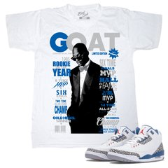AIR JORDAN 3 TRUE BLUE GOAT GQ TEE