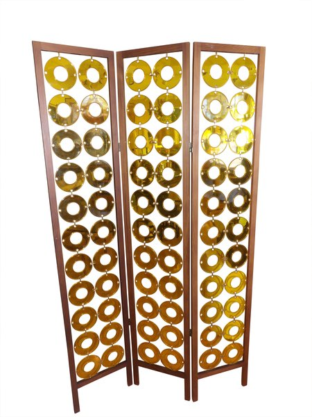 Room divider screen walnut plastic janakos company - Plastic room divider screen ...