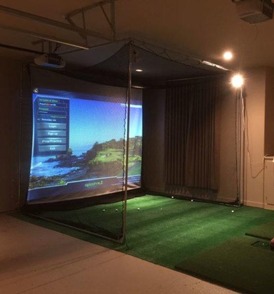 Golf Simulators: Optishot COMPLETE Golf Simulator System Laptop Projector