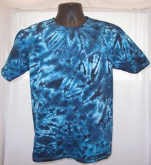 Black and Blue Marble Adult T-Shirt