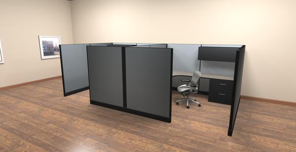 "8 x8 cubicles 67""H panels 2 pack OKC fice Furniture"