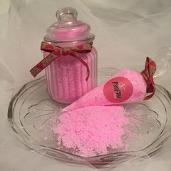 Fruity Foaming Bath Salts with Rhubarb and Blackberry