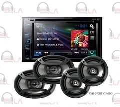 "Pioneer AVH-270BT DVD 6.2"" Receiver w/ 6x9"" TS-695P & TS-165P 6.5"" Speakers"