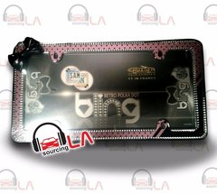 Chrome/Black/Pink Retro Polka Dots Bling License Plate Frame for USA Car-Truck