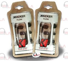 KICKER FLOW EB72 WHITE/BLACK IN-EAR EARPHONES NOISE-ISOLATING EARBUD SET OF 2