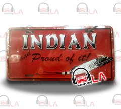 Indian Novelty Car License Plate