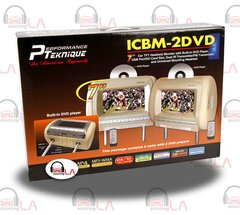 "Performance Teknique ICBM-2DVD Tan 7"" Headrest Monitor Combo w/ DVD Player"