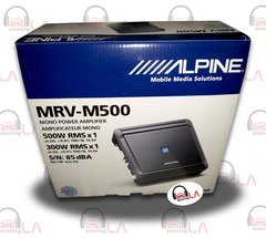 ALPINE MRV-M500 AMP 1CHANNEL 1000W MAX SUBWOOFERS SPEAKERS BASS AMPLIFIER