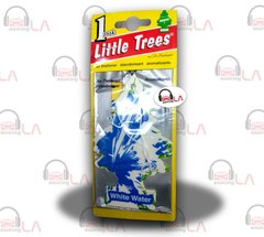 Little Trees Hanging Car and Home Air Freshener, White Water(Pack of 24)