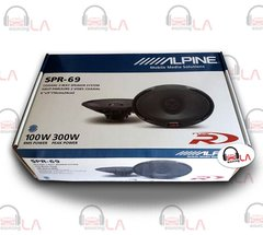 "Alpine SPR69 6x9"" 600W 2 Way Full Range Type R Car Audio Speakers"