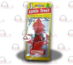 Little Trees Hanging Car and Home Air Freshener, Strawberry(Pack of 24)