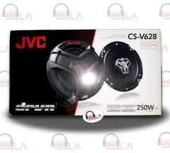 "JVC CS-V628 6.5"" 2-Way Coaxial Car Audio Speakers 250 Watts"