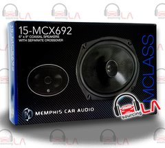MEMPHIS 15-MCX692 WITH CAR 6X9 2 WAY COAXIAL 120W SPEAKERS PAIR
