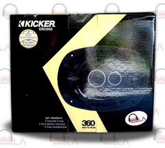 "Kicker 41DSC693 6"" x 9"" D-Series Coaxial 3-Way Speaker With 1/2"" Tweeter"