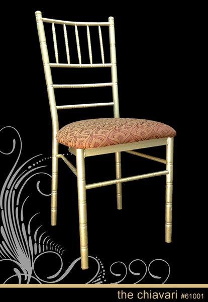 Metal Ballroom Chiavari Chair Champagne Frame Finish