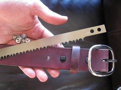 BCNW Leather Belt with Swede Saw Blade