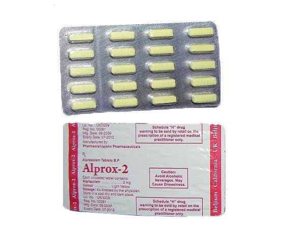 Alprazolam 2 mg efectos