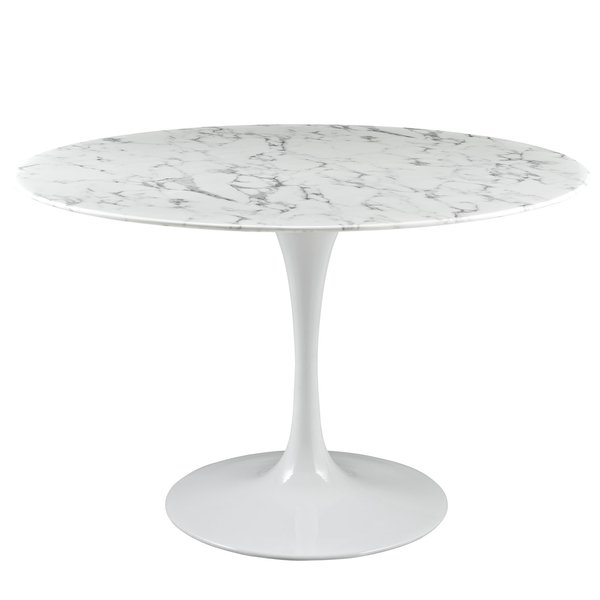 Saarinen Round Marble Tulip Dining Table 47 Take 1 Designs Mid