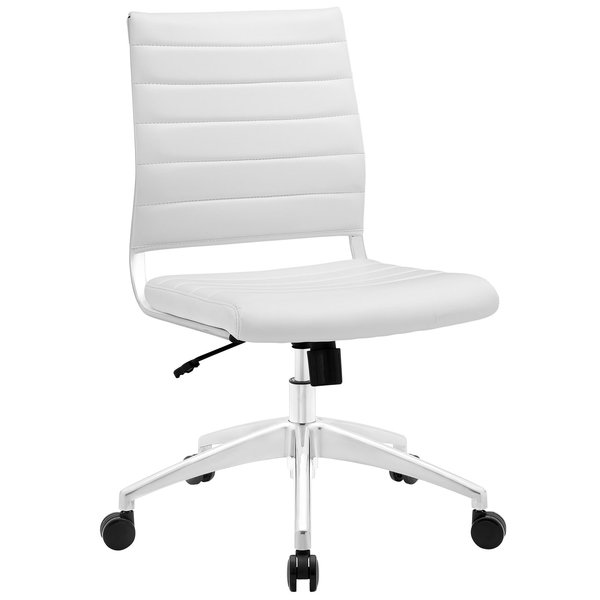 armless midback office chair white take 1 designs mid century modern