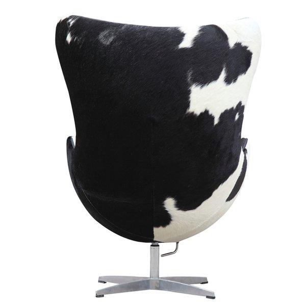 Arne Jacobsen Egg Chair Cowhide Black Amp White Take 1