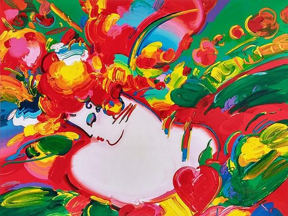 Peter Max Flower Blossom Lady