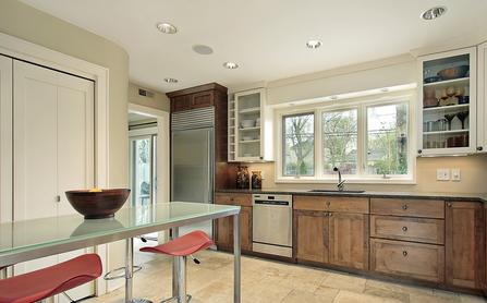 Kitchen custom glass top and insulated glass windows