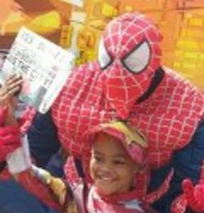 Hire Party Character in the style of Spider man for Superhero Party