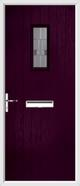 Cottage rebate composite door lignum glass