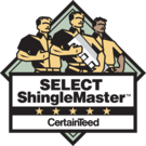 Certainteed Select ShingleMaster certified roof contractor in Houston; Houston roofing contractor