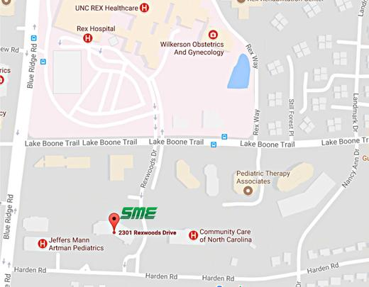 SME Clinic of Raleigh Location Map