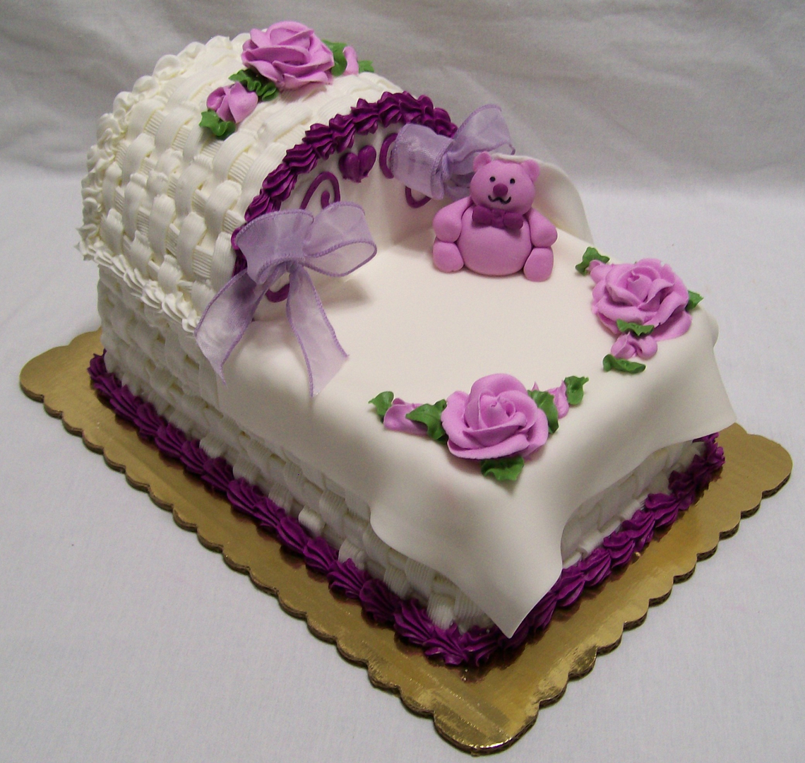 Fabulous Custom made cakes and cookies in West - Baby Shower Cakes 4  RE92