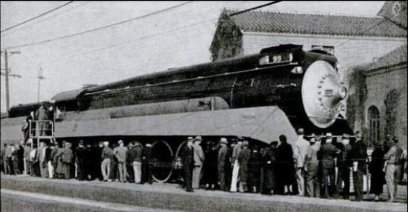 The debut of Southern Pacific's Daylight in 1937.The debut of Southern Pacific's Daylight in 1937.