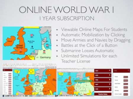 Online World War 1 Simulation Lesson Plan