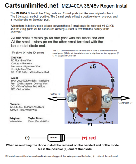 Solenoids Wiring Diagram Volt Golf Cart Sd Controller on