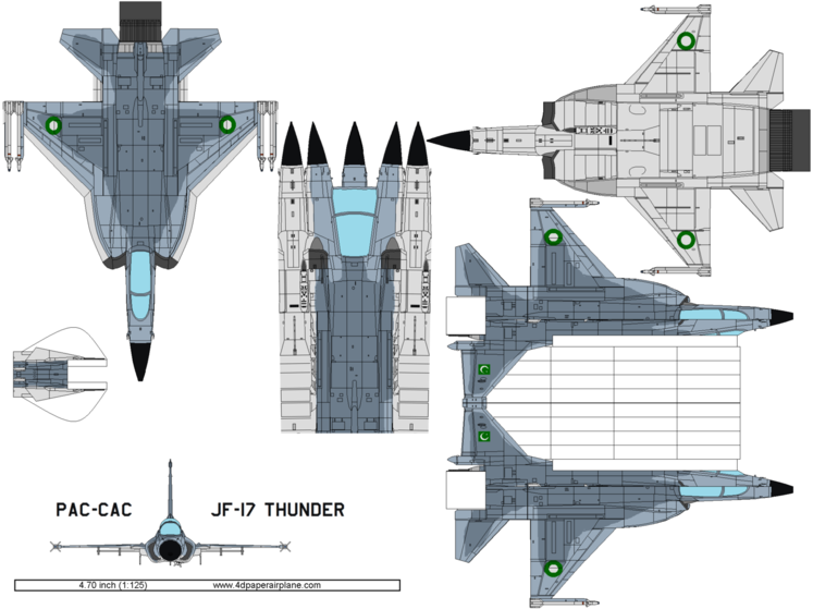 4D model template of PAC JF-17 Thunder