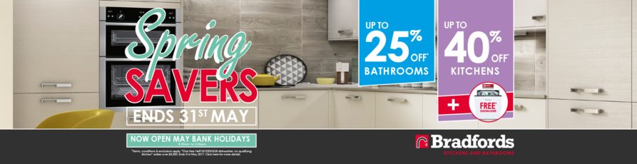 spring sale, kitchen and bathroom sale
