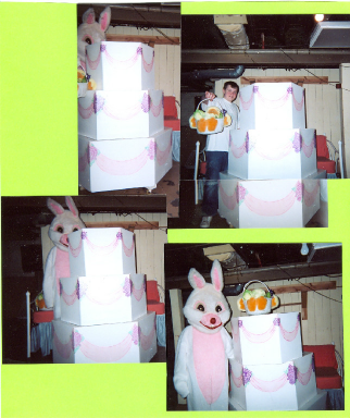 Hire Easter Bunny and Cake jump by Celebrity Cakes A Poppin'