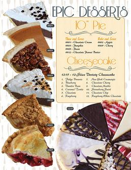 EPIC Desserts Pie Fundraiser Brochure