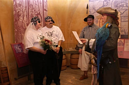 Pirate wedding vows Charleston SC