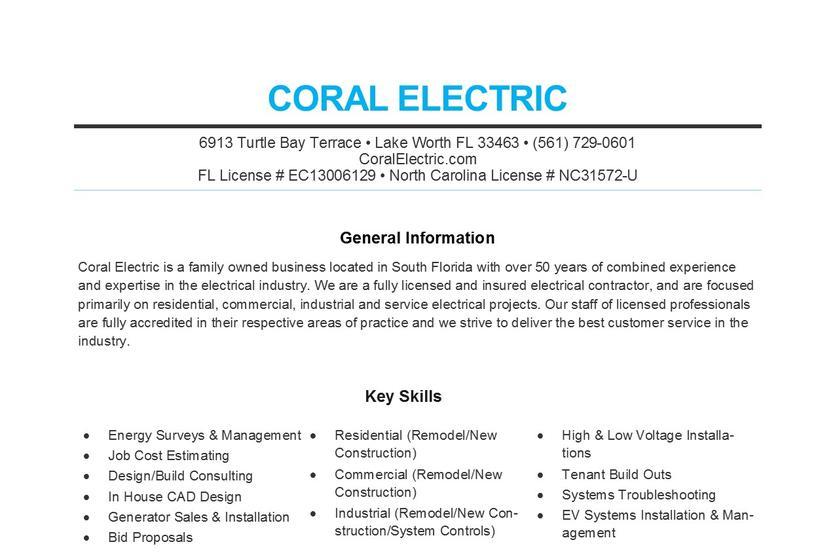 Company Resume