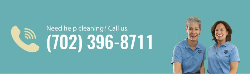 Phone number for cleaning service. Call Always Ready Cleaning at (702) 396-8711 for cleaning services. Pictured with 2 professional maids in uniform.