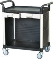 2 shelf plastic cabinet service carts, utility carts, service trolley manufacturer