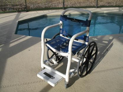 Pool or shower wheelchair