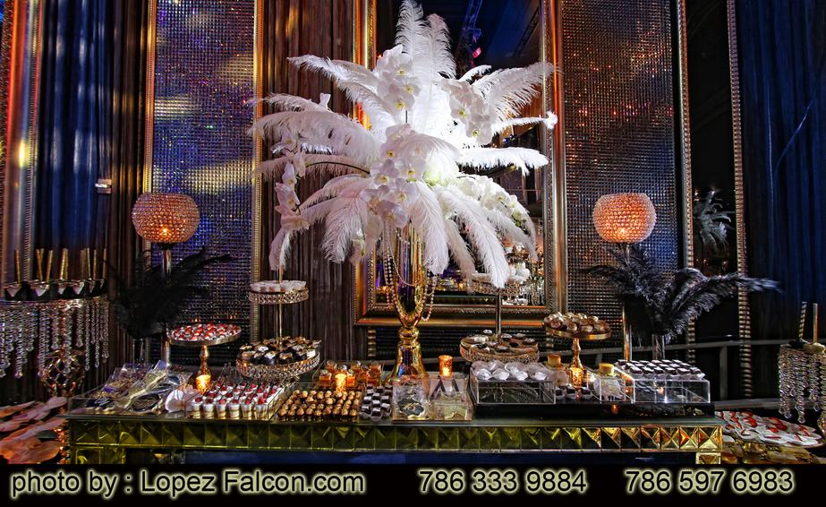 Quince anos Quinces Great Gatsby Centerpieces Table Center Decoracion Miami Mesa de postres