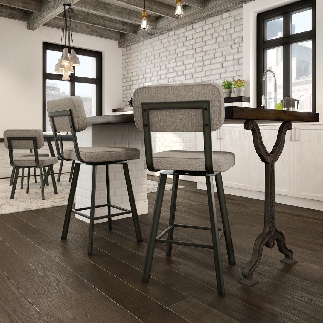 100 sunpan bar stool brilliant grey upholstered bar stools