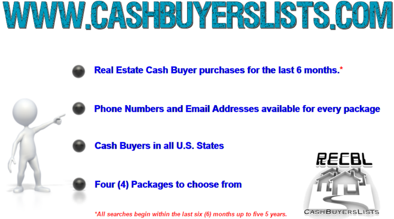 Real Estate Cash Buyer Email Addresses and Phone Numbers