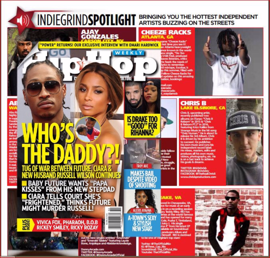 Hip Hop Star Chris B Featured in Hip Hop Weekly magazine