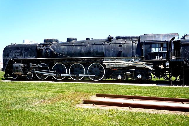 Union Pacific FEF-1 Class 4-8-4 No. 814 on display at RailsWest Railroad Museum.