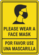 WEAR A MASK SIGN NEW YORK